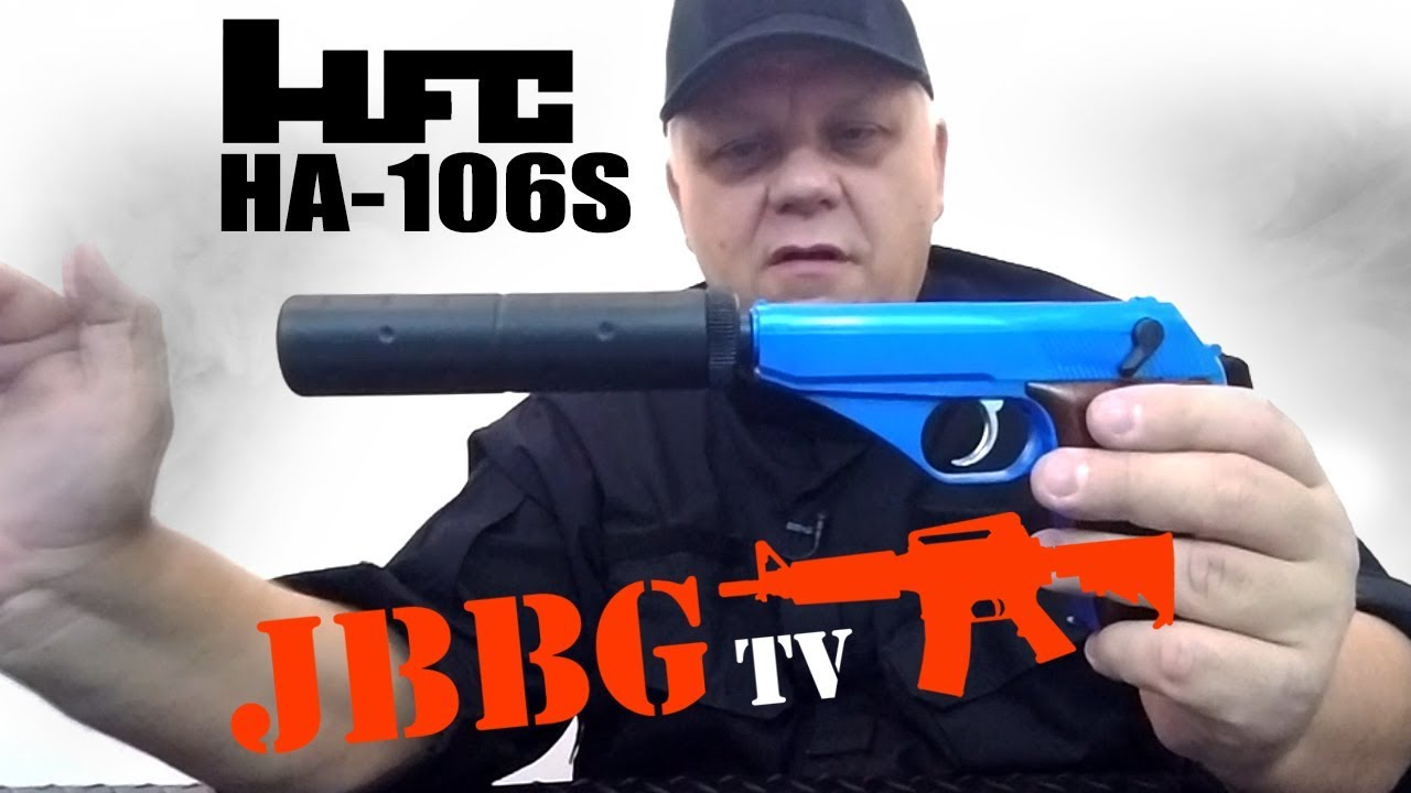 HG106S Airsoft Pistol with Silencer
