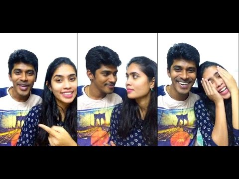 Arun & Sanjana Real Couple _tamil Dubsmash Couple_ Live Chating Video