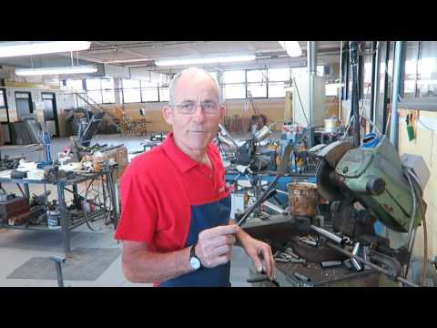 Building a Handmade Bicycle Frame in Tuscany Italy