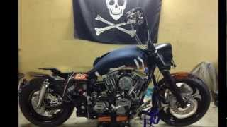 Test Fire 155ci on 2005 Harley-Davidson (FLHP) Road King Police + 200mm tire