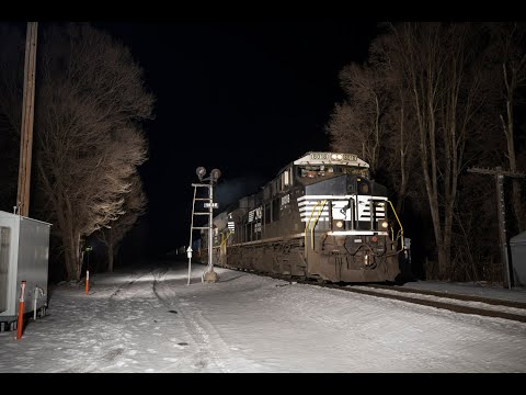 Rare NS 22K Detour Move On Amtrak West Of Schenectady