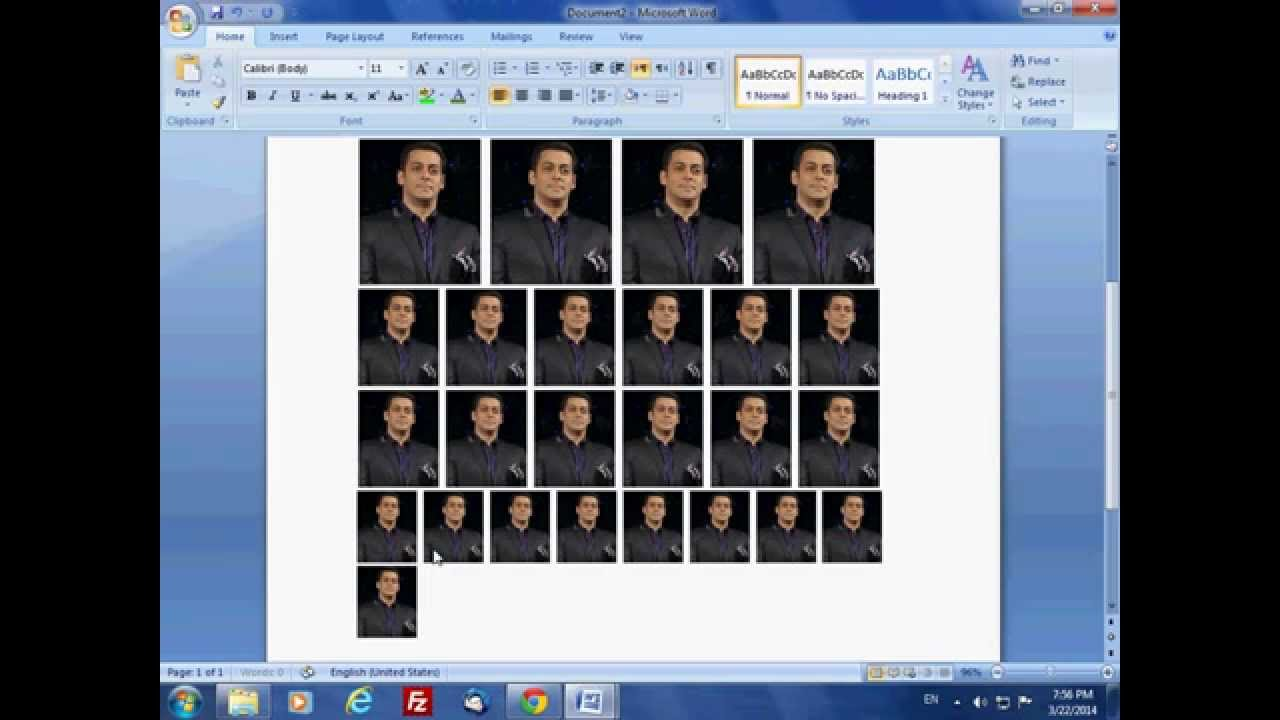 How to create passportmultiple size photo like photoshop 70cc how to create passportmultiple size photo like photoshop 70cccs6cs5 in microsoft office word youtube pronofoot35fo Choice Image