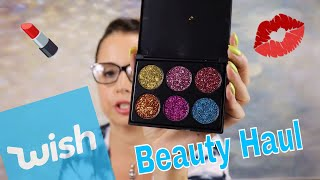 WISH FREE and $1 MAKEUP BEAUTY HAUL FROM WISH APP - Sarah K. Says