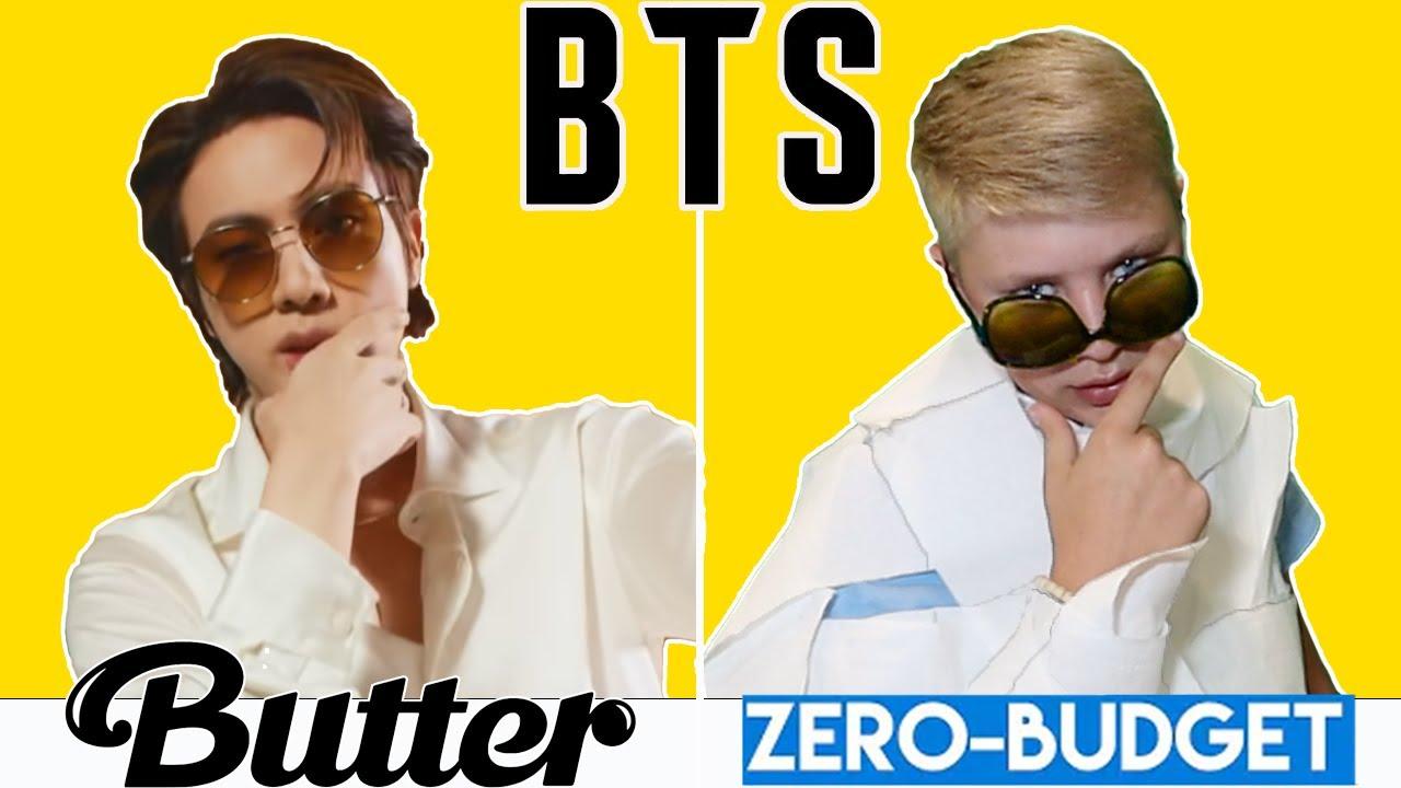 BUTTER With ZERO BUDGET! BTS Butter K-POP MUSIC VIDEO PARODY By KJAR Crew!