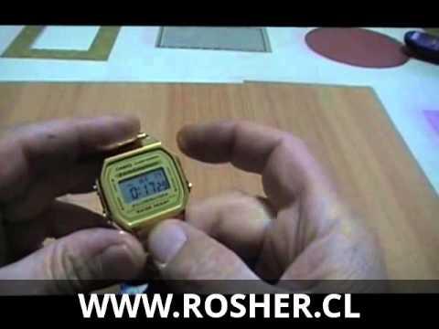Relojeria : Como cambiar la hora del reloj retro Casio A168 GA