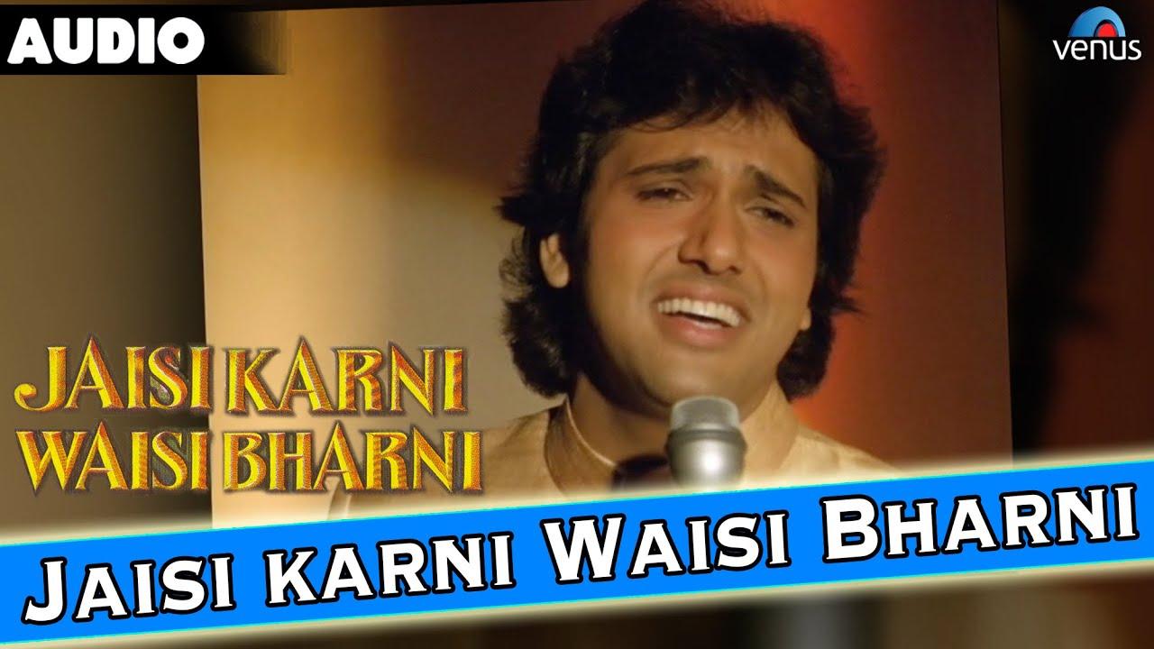 Jaisi Karni Waisi Bharni Lyrical Video Govinda Kimi Katkar 90 S Best Bollywood Song Youtube