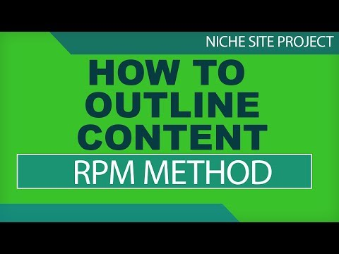 How To OUTLINE CONTENT For AMAZON AFFILIATE Niche Sites - RPM (Research Paper Method)