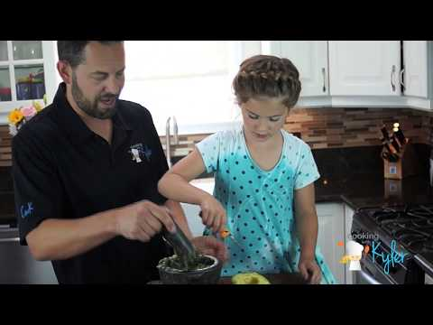 Easy Guacamole Recipe made with a Kid