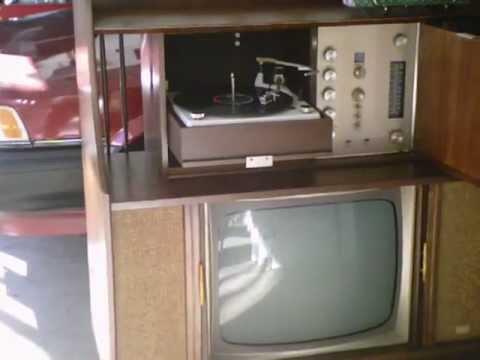 Mid 1960s Ge Record Player    Radio    Tv Console