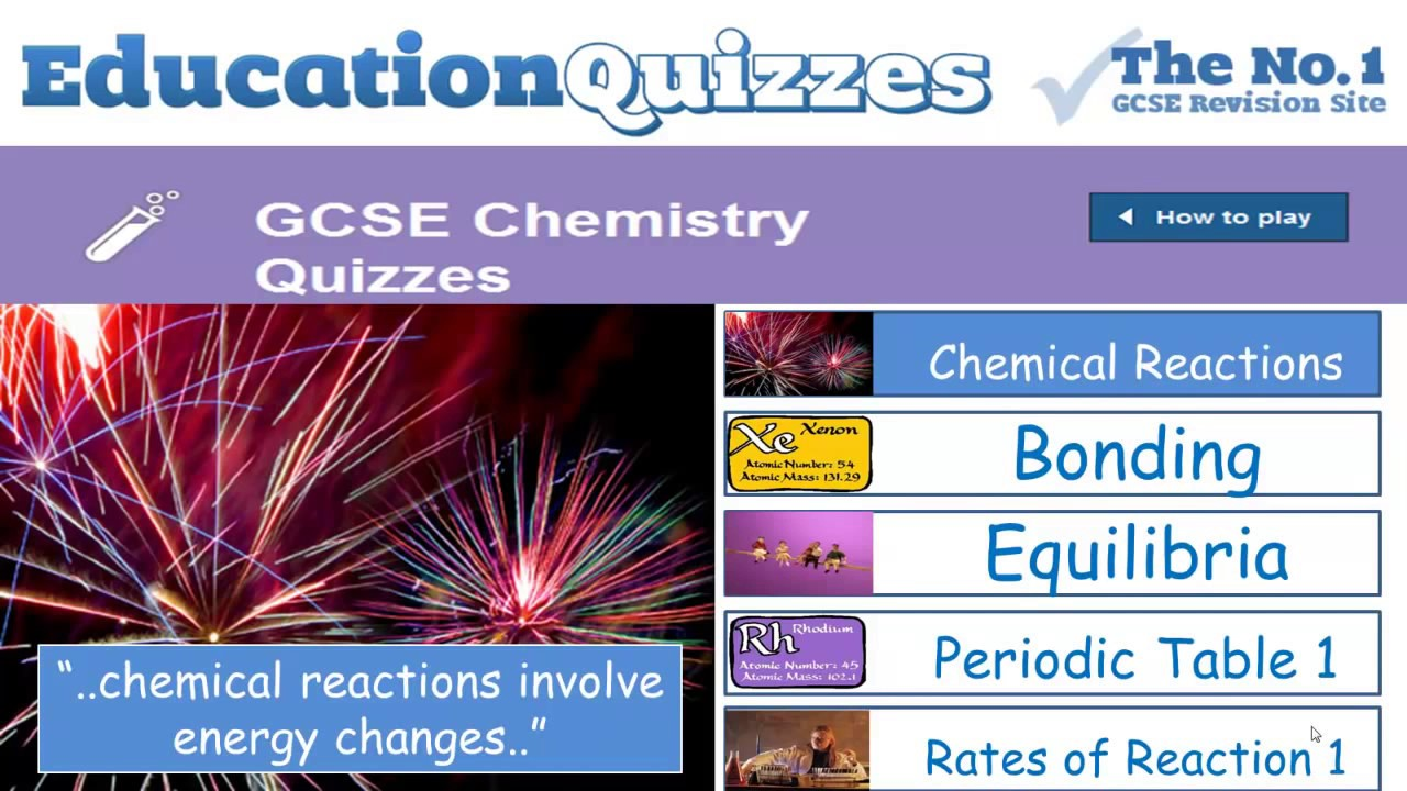 GCSE Chemistry | Key Revision Topics from Education Quizzes