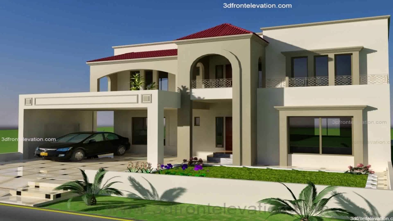 Front Elevation Of 7 Marla Houses : Marla house design in bahria town lahore youtube
