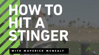 The Lesson Tee | How to hit a STINGER with a DRIVER