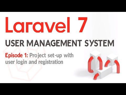 Laravel 7 - User Login And Management System With Roles - EP1 Project Set-up And User Login.