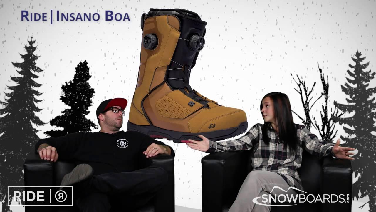 2016 Ride Insano Boa Boot Overview by SnowboardsDotCom - YouTube fb22c2fa2