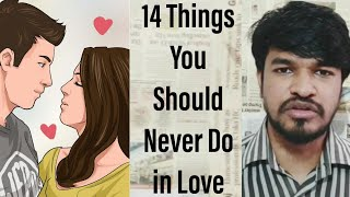 14 Things You Should Never do in Love Life | Tamil | Madan Gowri