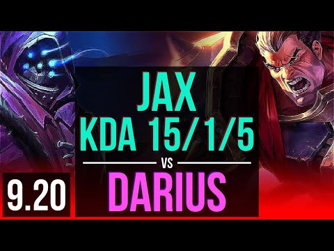 JAX vs DARIUS TOP  KDA 1515 Rank 10 Jax 2 early solo kills Legendary  BR Challenger  v920