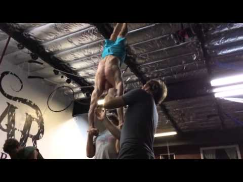 Acro: Tari Mannello & Jason Inlocate and Reverse Inlocate to Hand to Hand