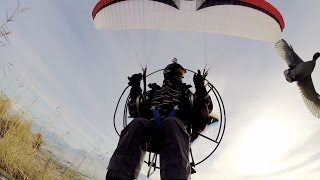 GoPro: Paramotor Over Snowy Marshes