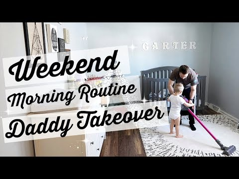 Weekend Morning Routine with a toddler and baby// DADDY TAKEOVER // Beauty and the Beastons 2018