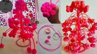 How to make chambakka using plastic wire.home decorative idea.