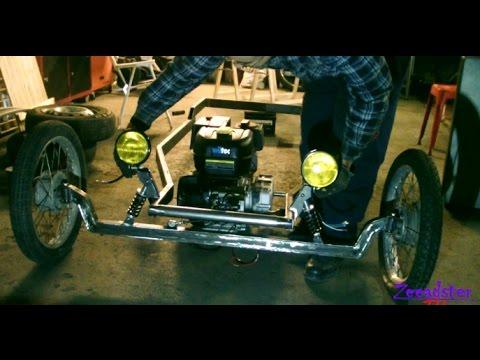 Homemade Hot Rod Kart Pt 7 Front Suspension Youtube