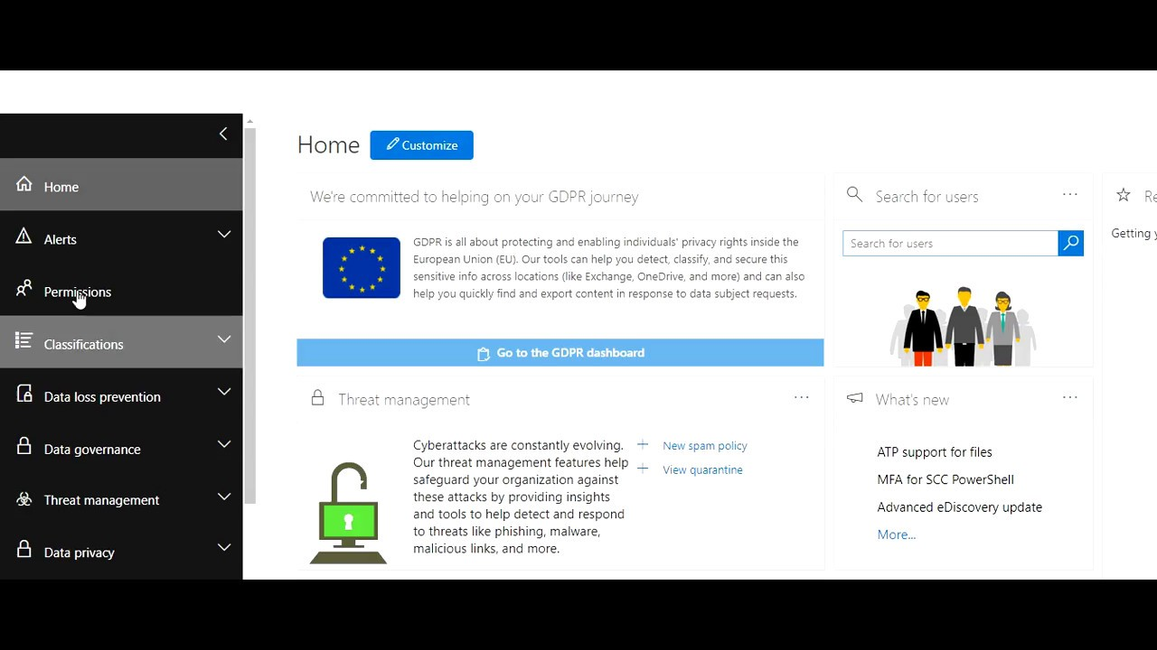 Threat Management in Office 365 - YouTube