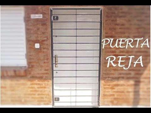 Como hacer una puerta reja youtube for Como hacer una puerta corrediza casera