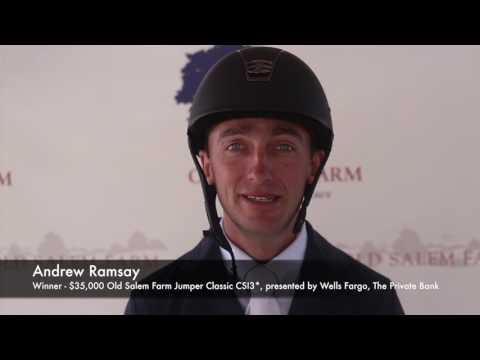 Andrew Ramsay and Stranger 30 - Winners of $35,000 Old Salem Farm Jumper Classic CSI3*