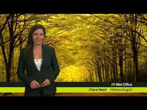 Thursday afternoon forecast 25/10/18