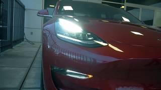 Picking Up Red Tesla Model 3!!