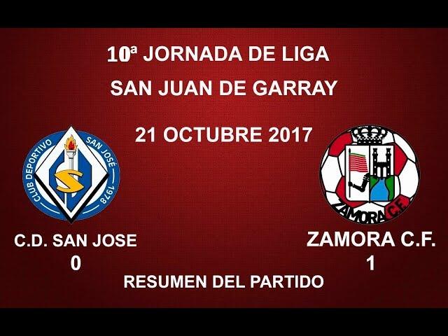 C.D. SAN JOSÉ 0-1 ZAMORA C.F.: RESUMEN DEL PARTIDO