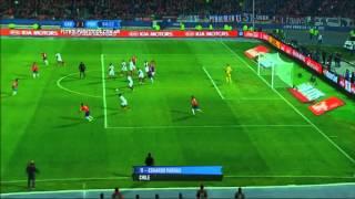 Gol de Vargas. Chile 2 - Perú 1. Semifinal. Copa América 2015. FPT.
