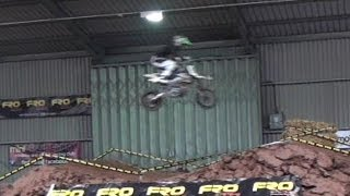 Mini Motorcycle & Pit Bike Indoor Dirt Track Jumping & Racing HD Video