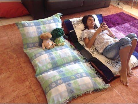 Passo a passo- Espreguiçadeira de travesseiro