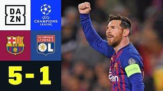 2 Tore, 2 Vorlagen! Magischer Lionel Messi glänzt: FC Barcelona - Lyon 5:1 | Champions League | DAZN