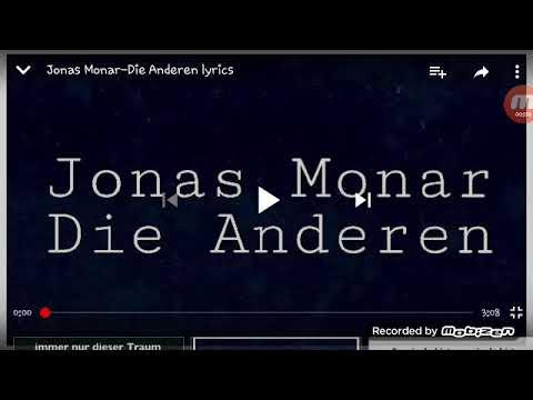 Die Andern lyrics singen von Jonas Monar {von Dom Ottaro}