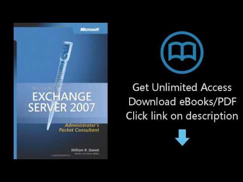 Download Microsoft  Exchange Server 2007 Administrator's Pocket Consultant (Pro Administrato [P.D.F]