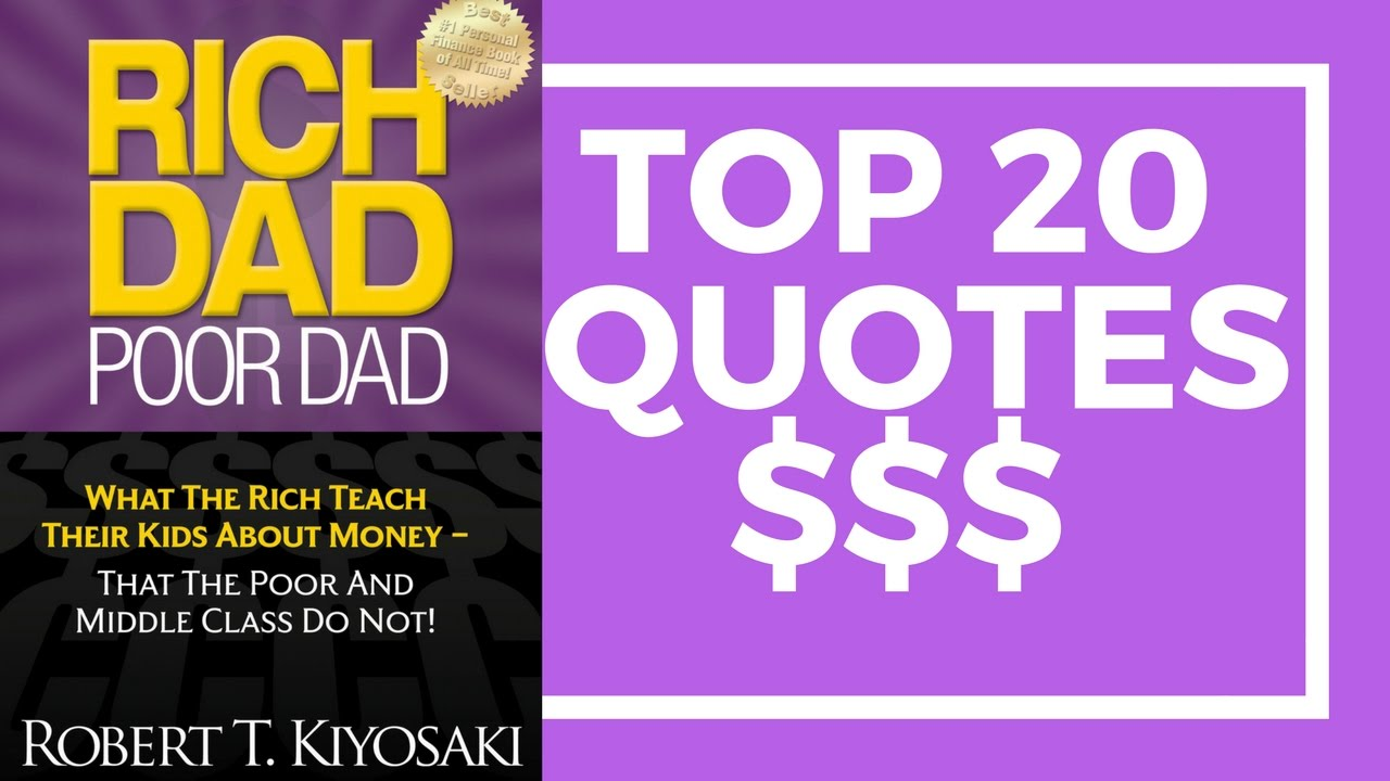 Rich Dad Poor Dad Quotes Motivational Video  Rich Dad Poor Dadrobert Kiyosaki  Books