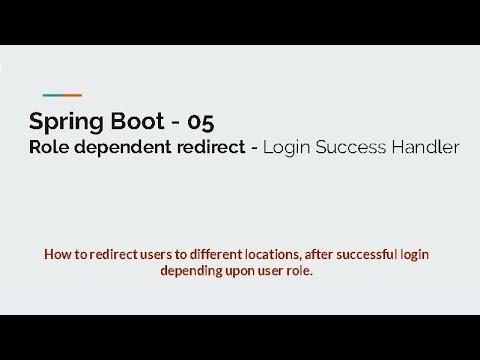05 Custom Login Success Handler - Role Dependent Redirect - Spring Boot