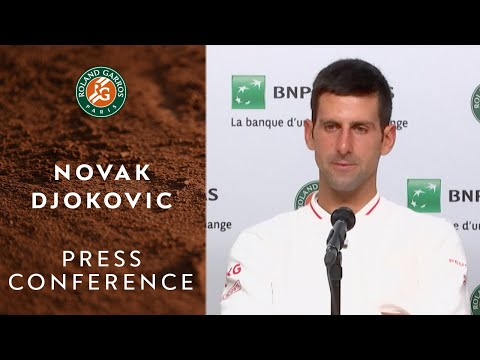 Novak Djokovic - Press Conference after Quarterfinals | Roland-Garros 2020