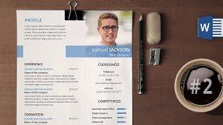 Réaliser un CV moderne sous Microsoft Word #2