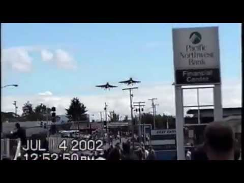 4th of July EA-6B Prowler Flyby