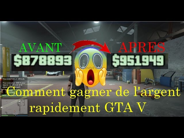 COMMENT GAGNER DE LARGENT RAPIDEMENT!!! First vidéo GTA V online