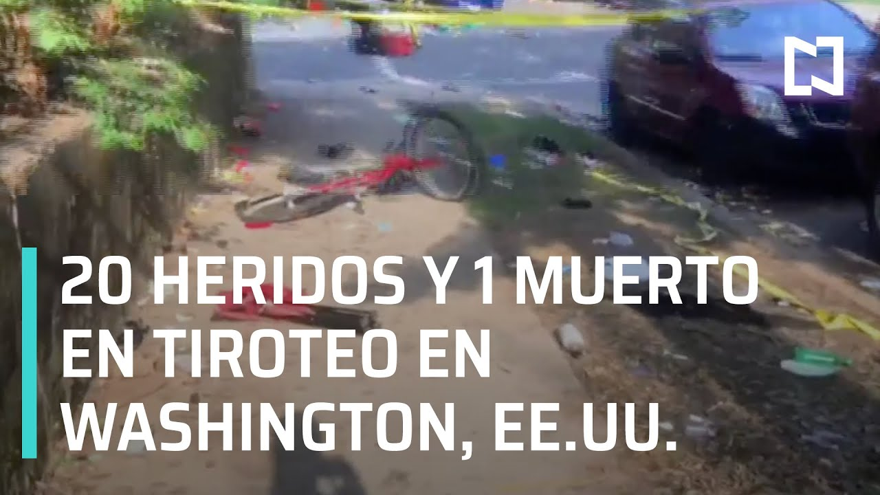 Tiroteo deja un muerto y 20 heridos en Washington, EE.UU. - Las Noticias