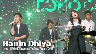 Hanin Dhiya Pupus Live at Kemayoran YouTube Fanfest 2018