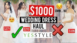 Try on: WEDDING DRESSES from YESSTYLE | Was it worth it?