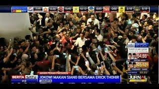 Warga Antusias Sambut Jokowi Saat Nge-Mall