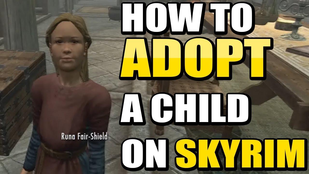 Skyrim : Hearthfire  How To Adopt A Child