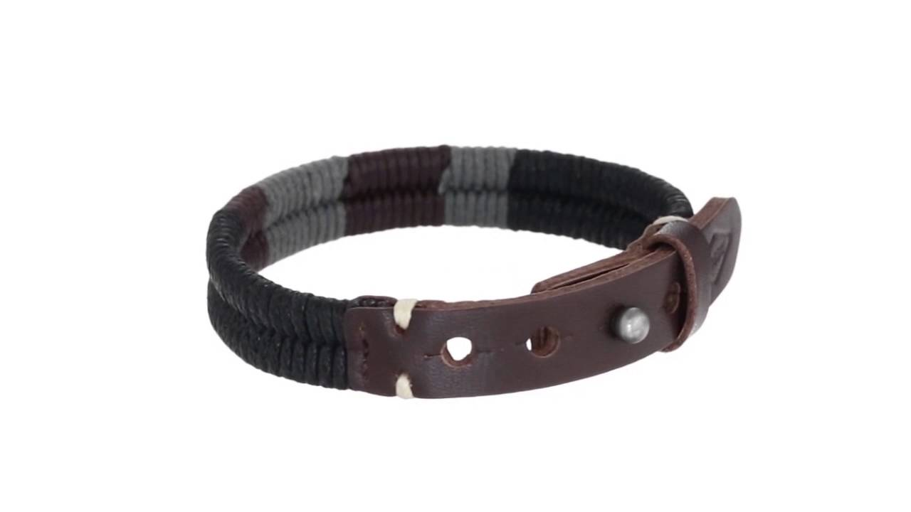 Fossil Vintage Casual Braided Leather Bracelet Sku 8779021 Youtube