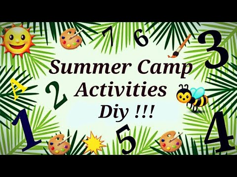 Easy and Creative Summer camp activities 2019 |DIY Fun Ideas/Rainy day activities/ art and craft.